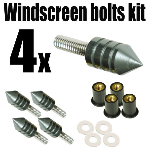 Spike Windscreen Screws Bolts Kit 4 pcs