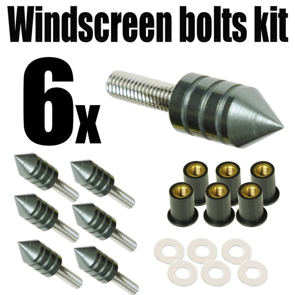 Spike Windscreen Screws Bolts Kit 6 pcs