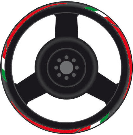 "Italian Flag Rim Stripes Kit, Yamaha T-MAX or Scooter with 14/15"" Rims"