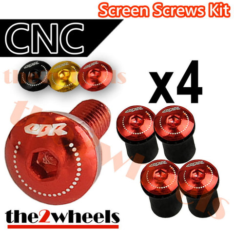 CBR Logo Windscreen Screws Bolts Kit 4 pcs