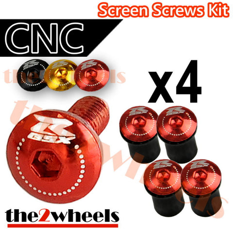 GSXR Logo Windscreen Screws Bolts Kit 4 pcs