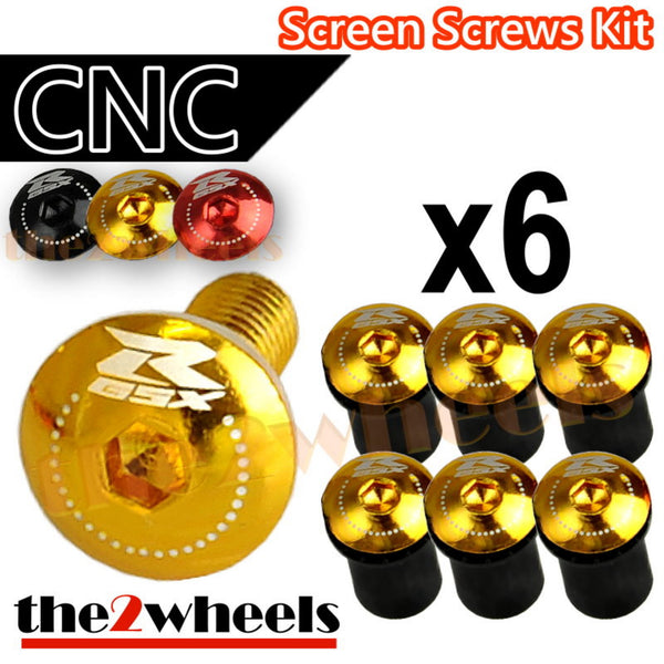 GSXR Logo Windscreen Screws Bolts Kit 6 pcs