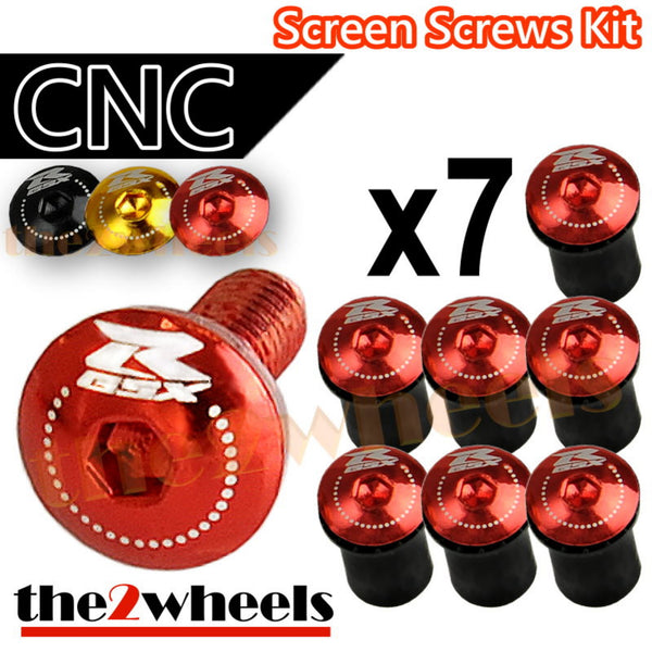 GSXR Logo Windscreen Screws Bolts Kit 7 pcs