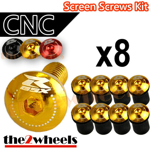 GSXR Logo Windscreen Screws Bolts Kit 8 pcs