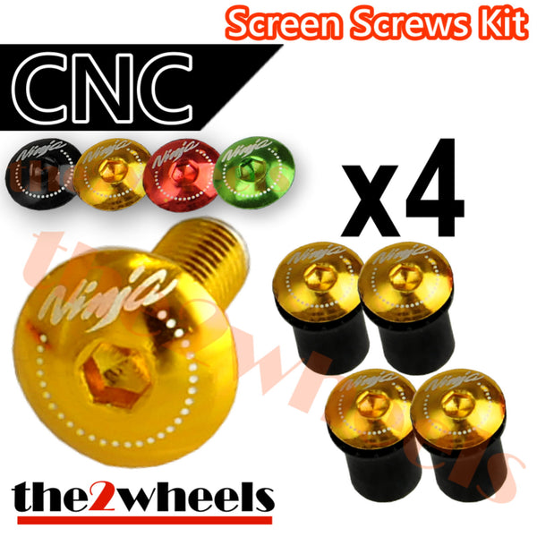 Ninja Logo Windscreen Screws Bolts Kit 4 pcs