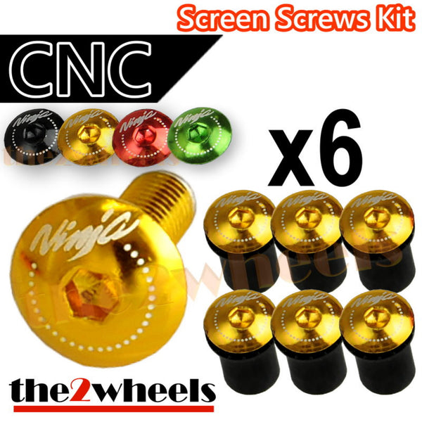 Ninja Logo Windscreen Screws Bolts Kit 6 pcs