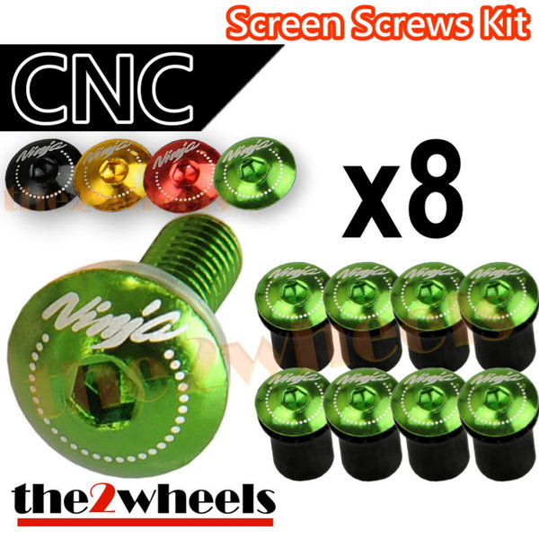 Ninja Logo Windscreen Screws Bolts Kit 8 pcs