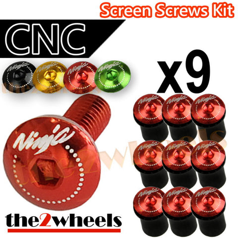 Ninja Logo Windscreen Screws Bolts Kit 9 pcs