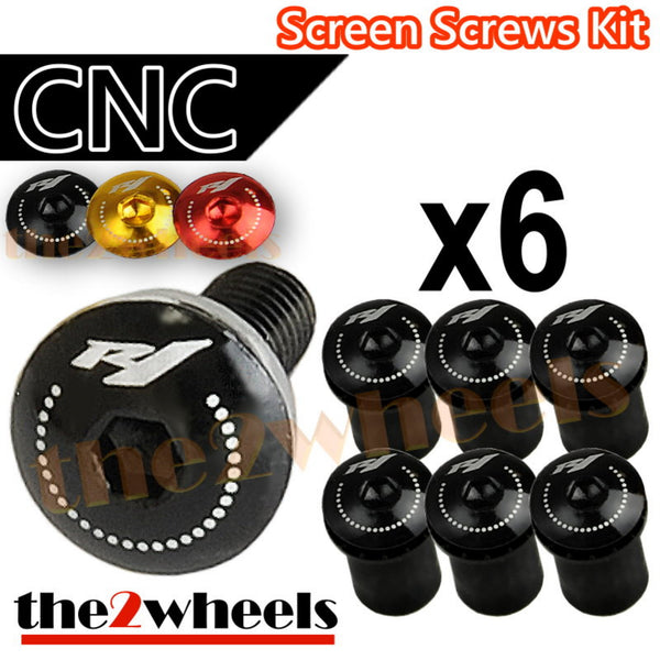 R1 Logo Windscreen Screws Bolts Kit 6 pcs