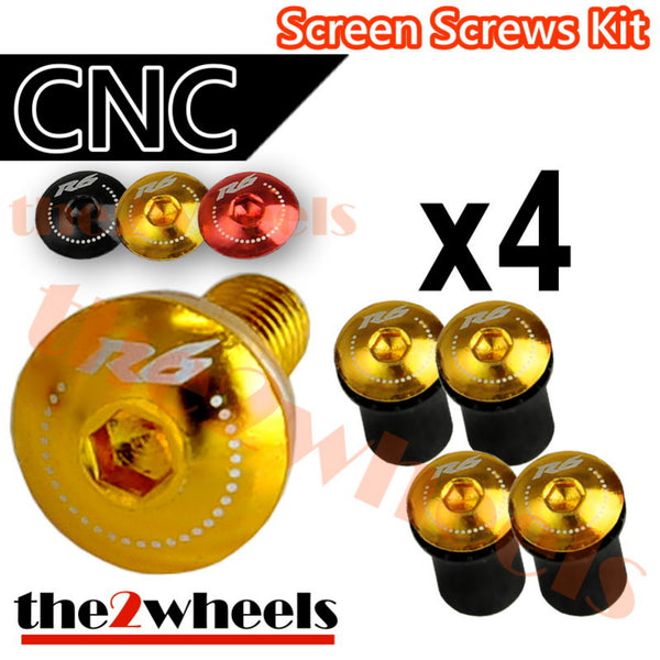 R6 Logo Windscreen Screws Bolts Kit 4 pcs