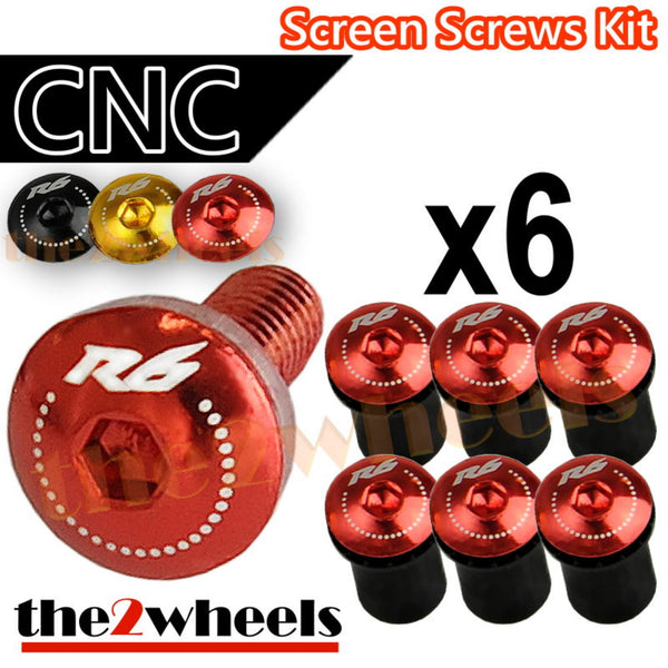 R6 Logo Windscreen Screws Bolts Kit 6 pcs
