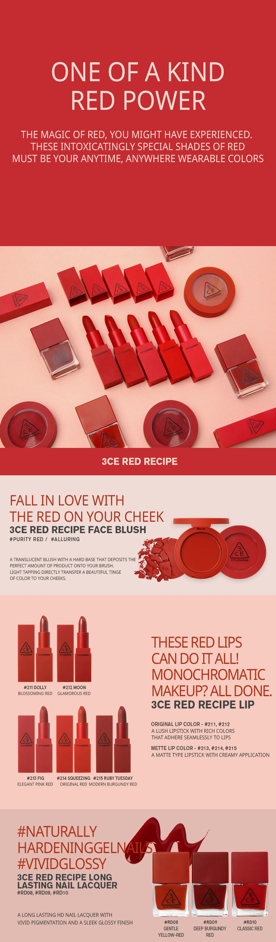 3CE RED RECIPE LIP COLOR MINI KIT