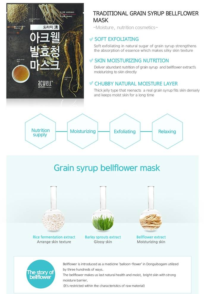ACWELL Traditional Grain Syrup Mask