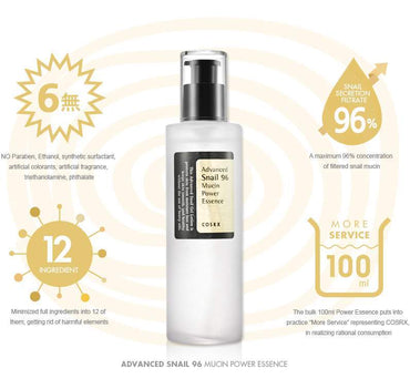 COSRX Advanced Snail 96 Mucin Power Essence - SheLC