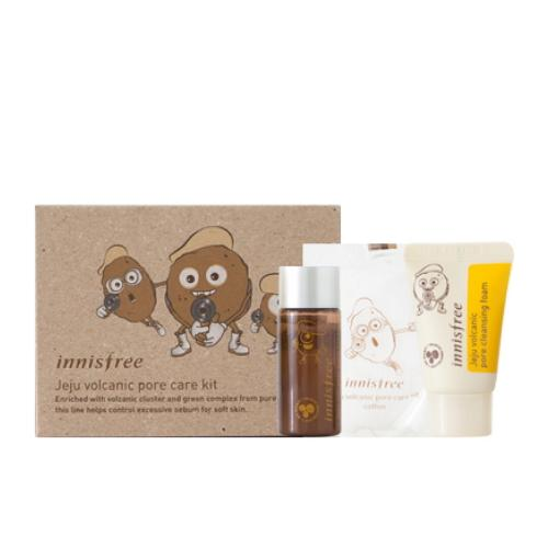 INNISFREE Jeju Volcanic Pore Care Kit 3 Items - mini kit - SheLC