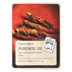 TONYMOLY Pureness 100 sheet mask #Red Ginseng - SheLC