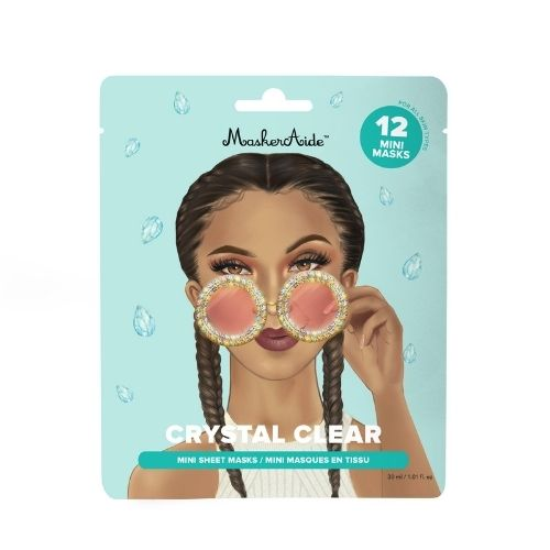 MASKERAIDE Crystal Clear Brightening Crystal Mini Masks