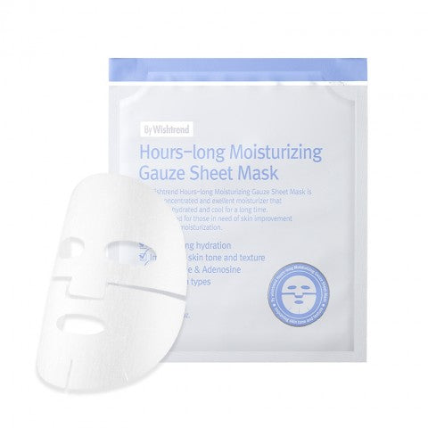 WISHTREND Hours-long Moisturizing Gauze Sheet Mask - Whitening