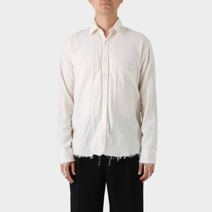 Elena Dawson Ecru Flannel Raw Edged Shirt