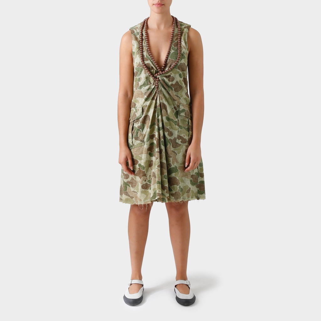 Junya Watanabe MAN Reversed Camouflage print Dress