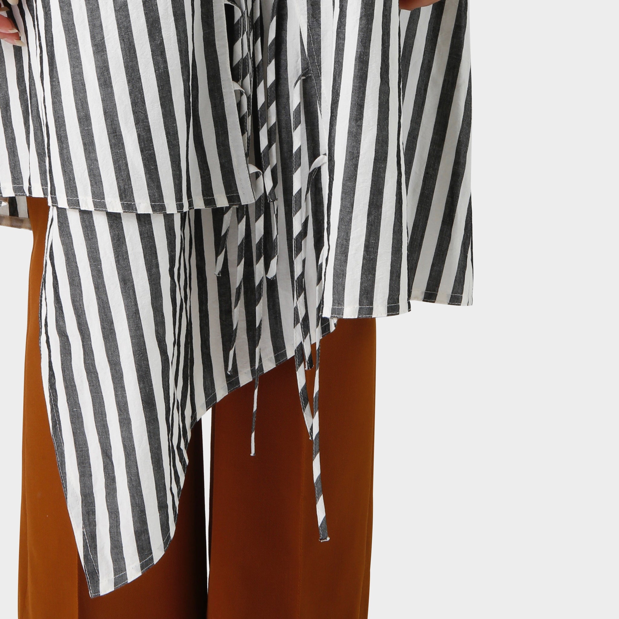 Damir Doma Striped Laceup Dress
