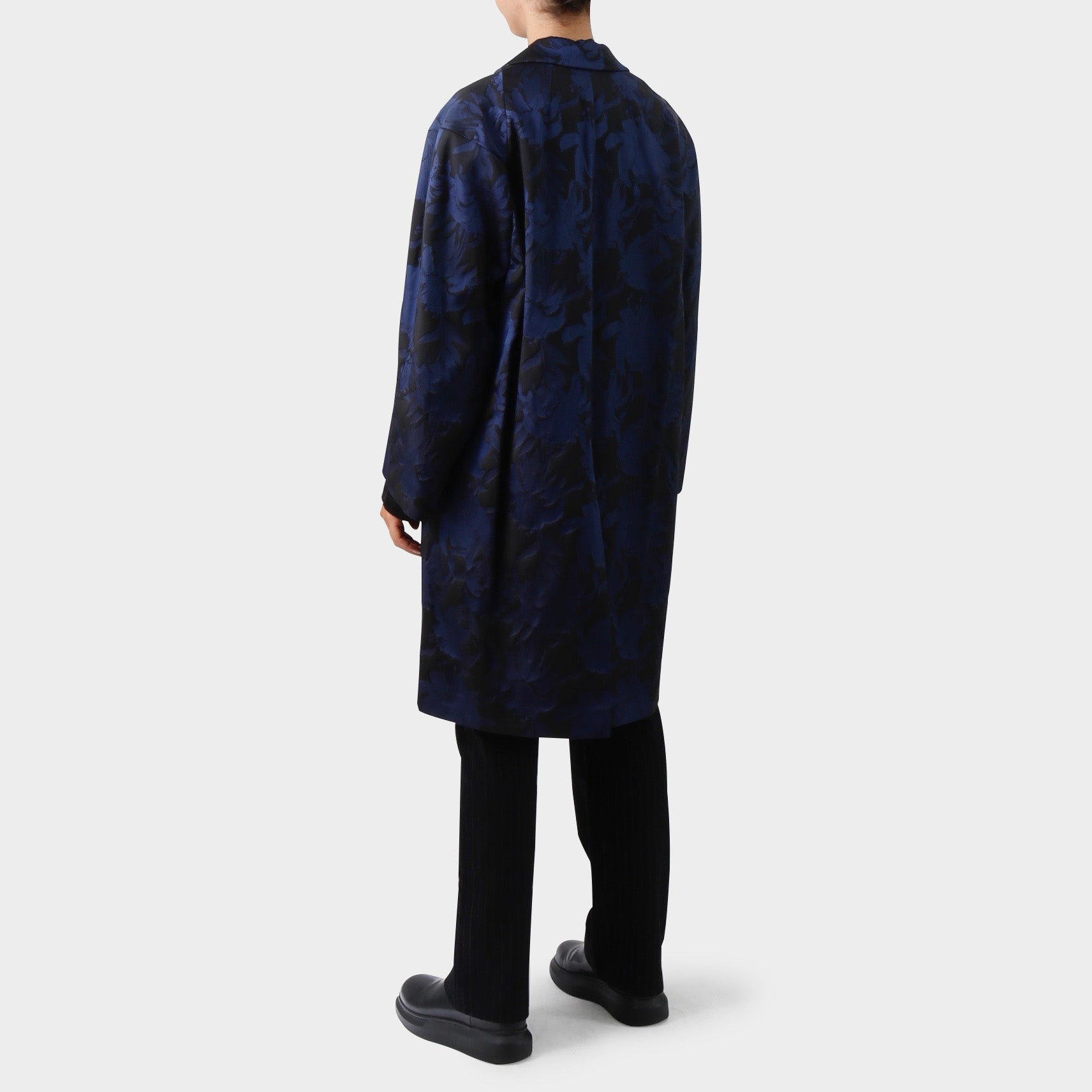 Dries van Noten Navy Resnick Coat