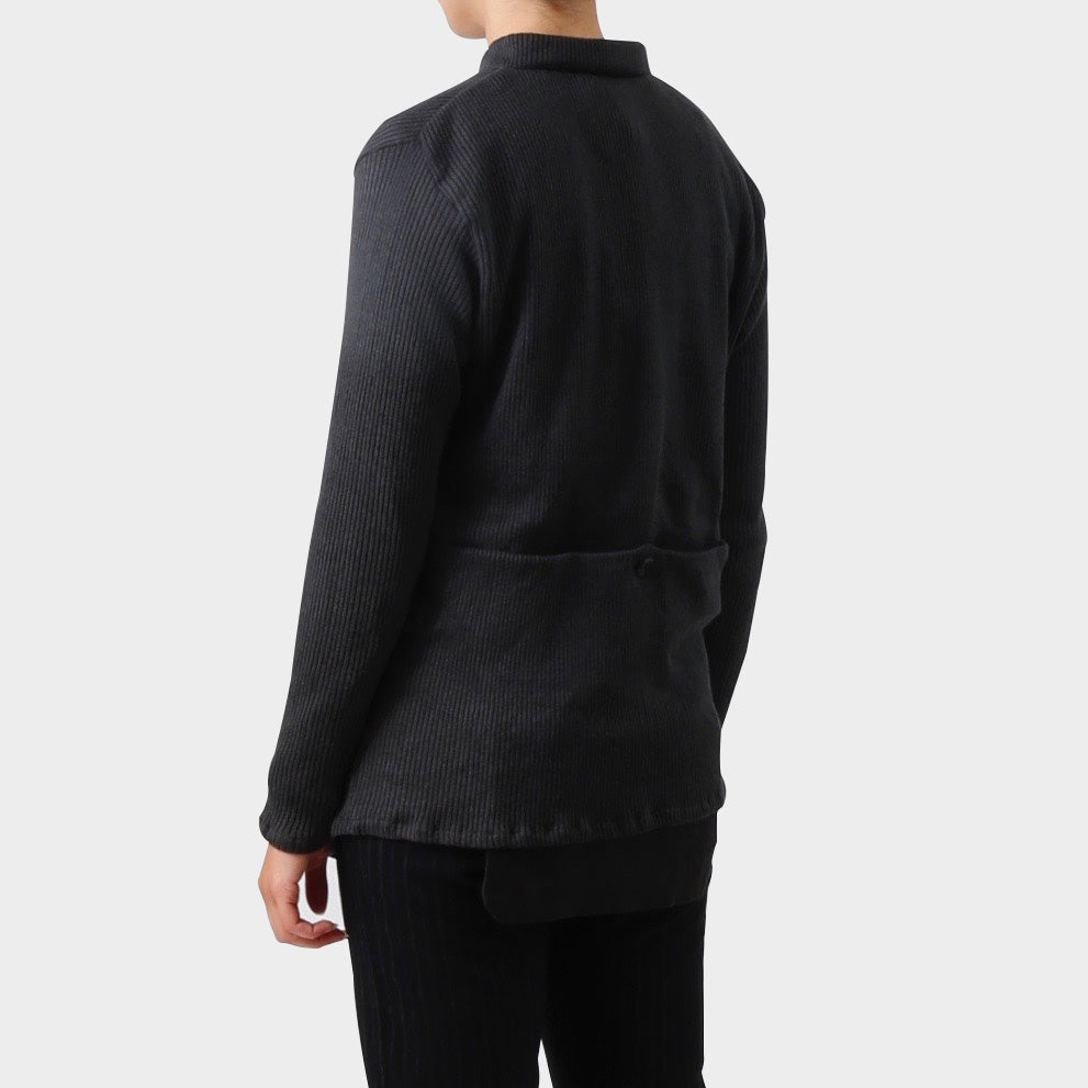 Paul Harnden Charcoal Knitted Linen Cardigan