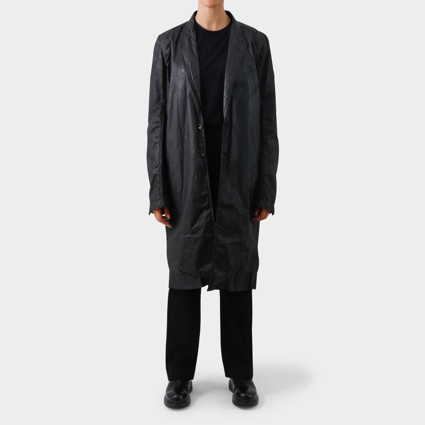 Rick Owens DRKSHDW Wax Coated Cotton Coat