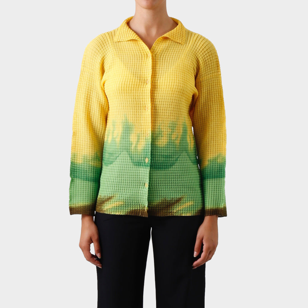 Issey Miyake Dip-dyed Pleated Shirt