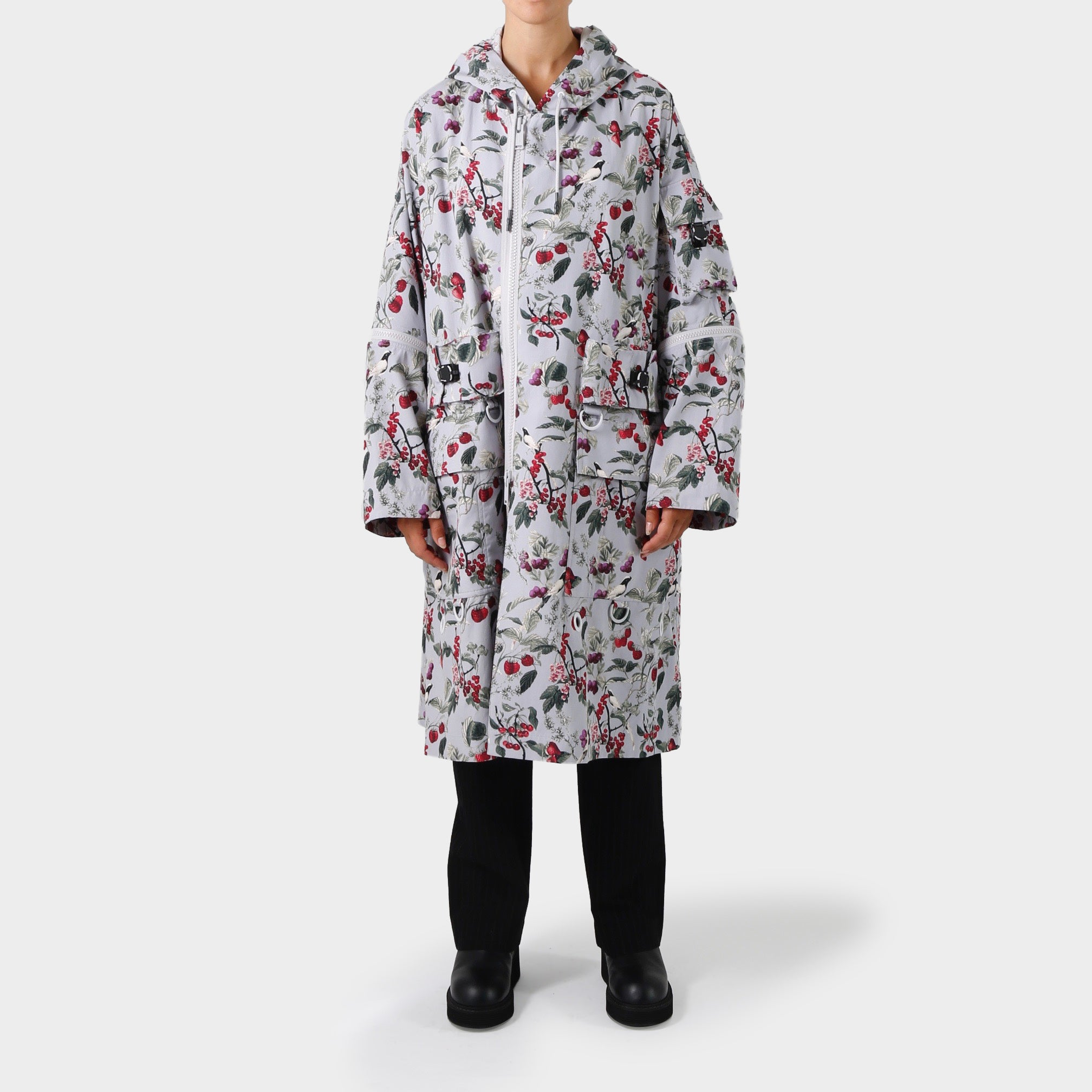 Undercover Floral Hooded Coat
