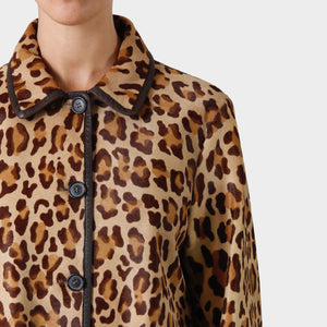Prada Leopard Print Pony Hair Coat