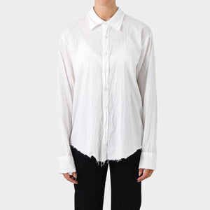 Elena Dawson White Cotton Voile Shirt
