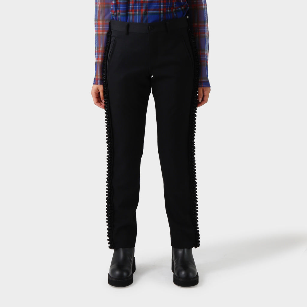 Comme des Garçons Ruffled Outseam Tailored Pant