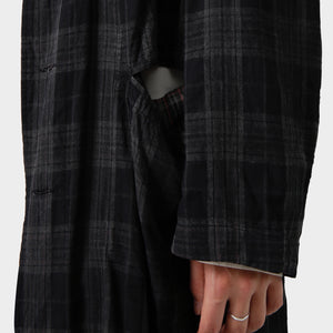 Yohji Yamamoto Painted Reversible Checked Coat