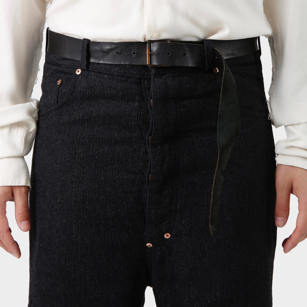 Paul Harnden Charcoal Belted Pants