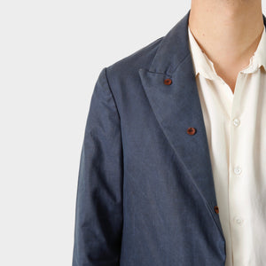 Paul Harnden Shoemakers Navy Waxed Cotton Blazer