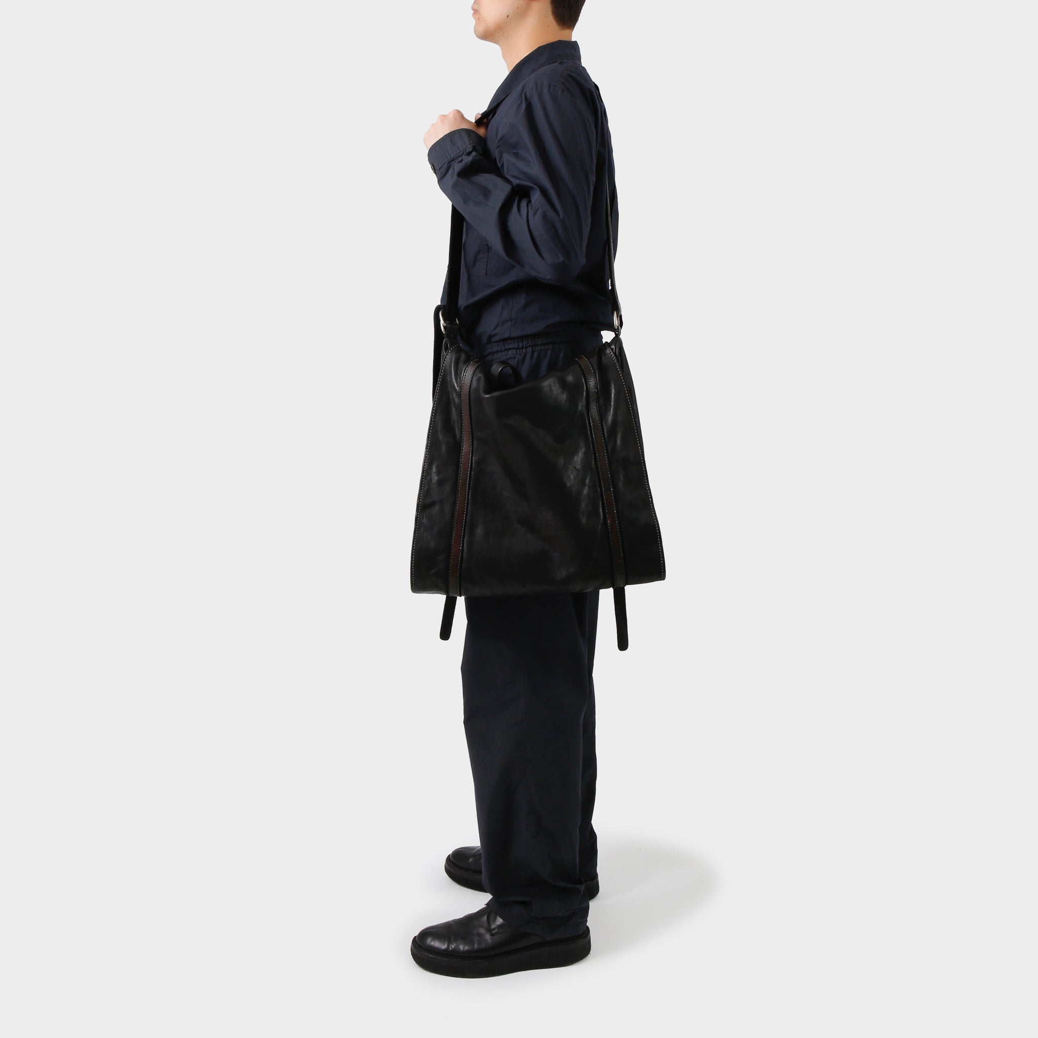 Dries van Noten Navy Cotton Poplin Boiler Suit