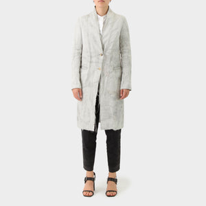 Forme D'Expression Linen Reverse-printed Coat