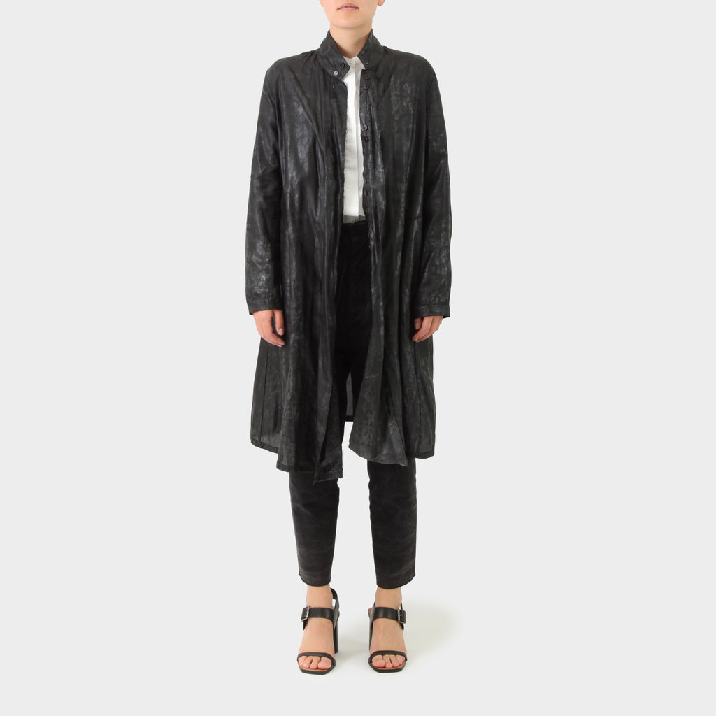 PR Patterson Waxed Organza Silk Coat