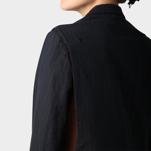 Maison Martin Margiela Pinstriped Blazer with Detachable Sleeves