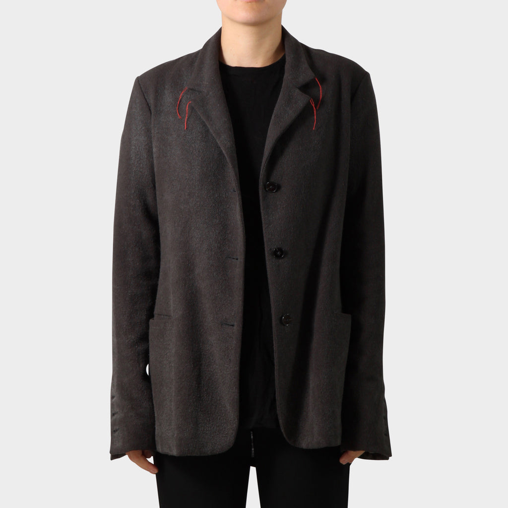 M.A+ Three Button Back Slit Blazer