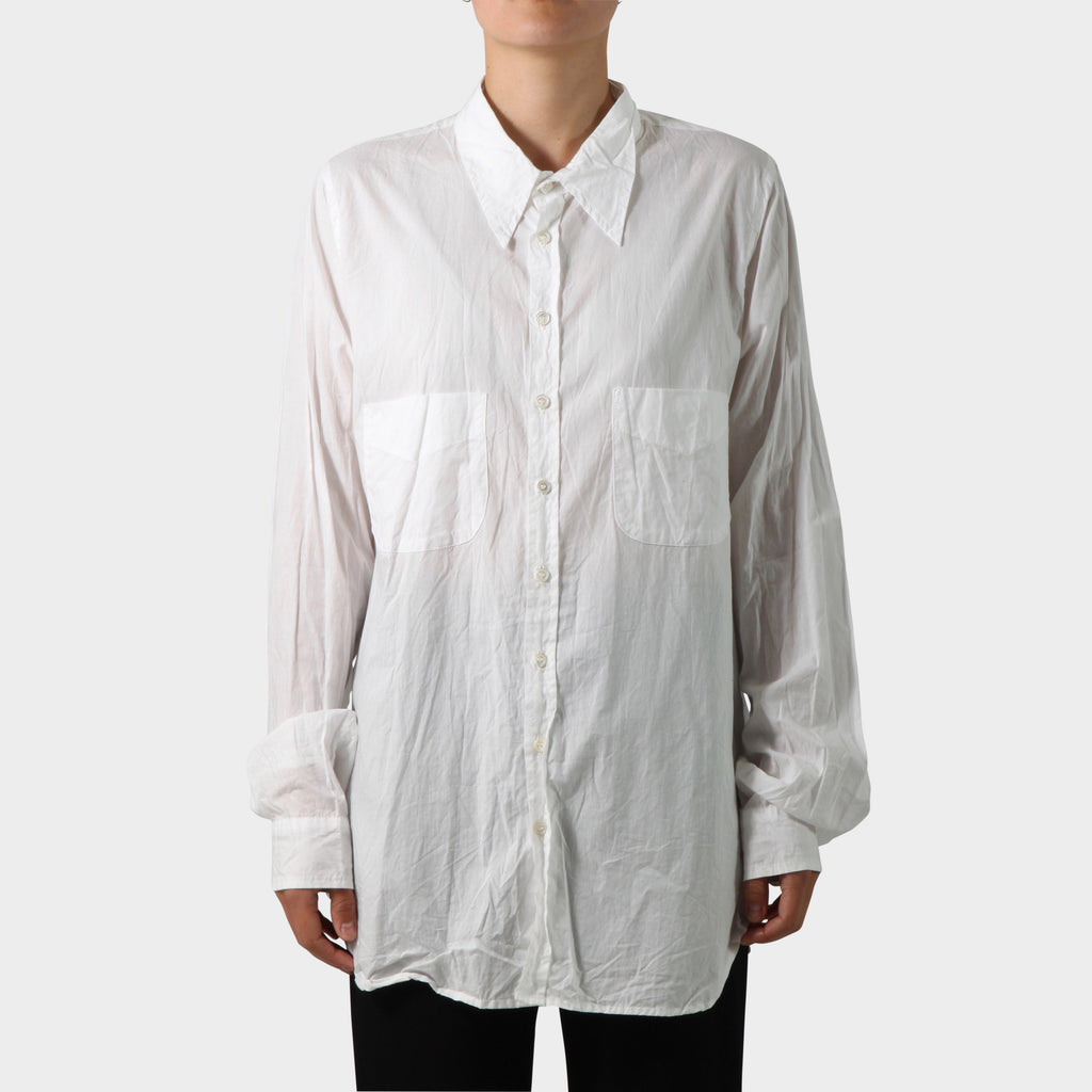Paul Harnden Shoemakers Double Pocket White Shirt