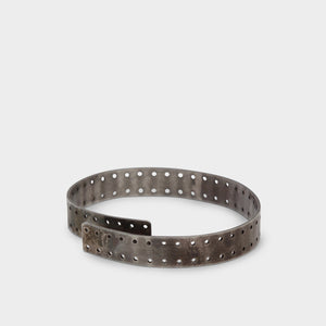 Taichi Murakami Silver Perforated Bangle
