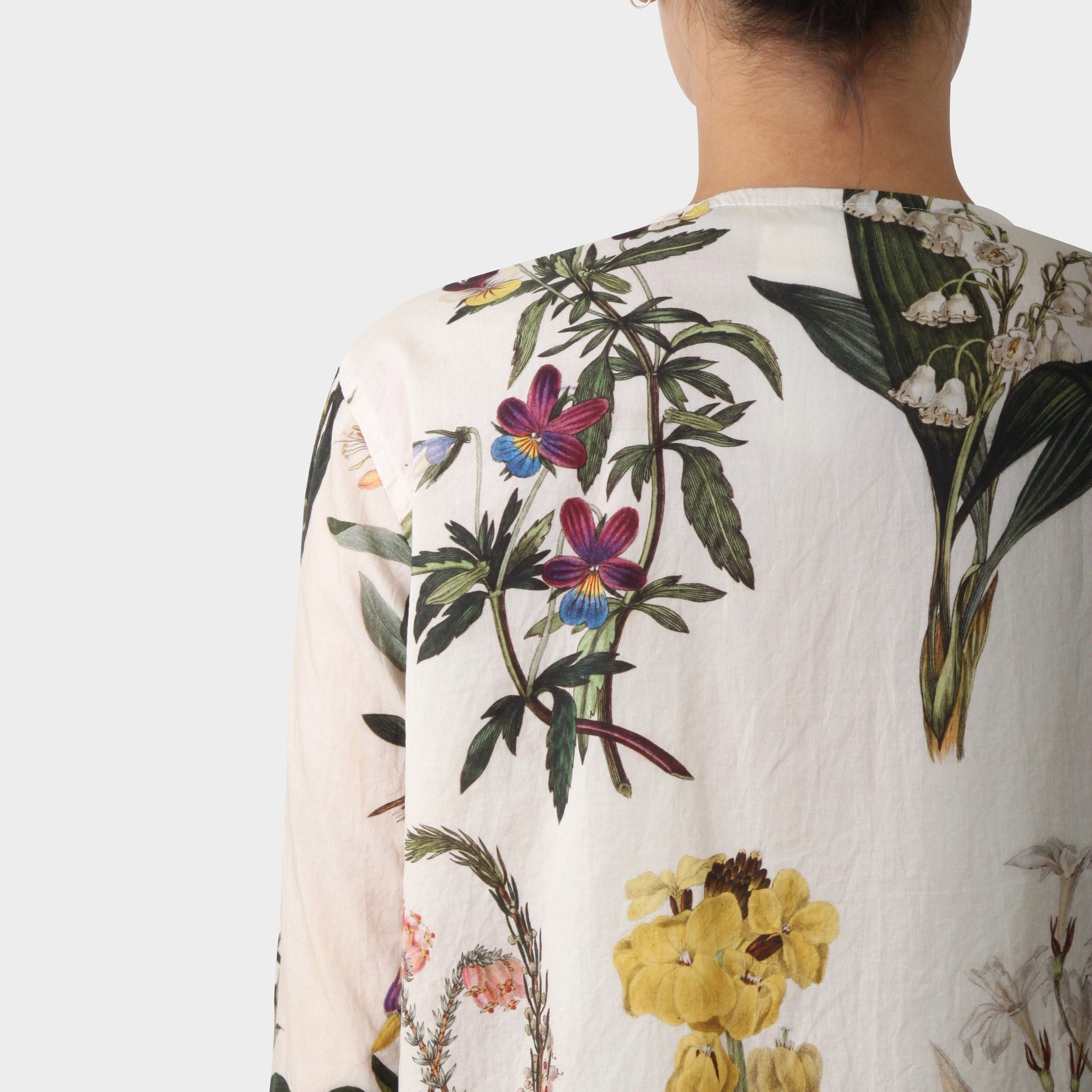 Paul Harnden Shoemakers Botanical Print Collarless Shirt