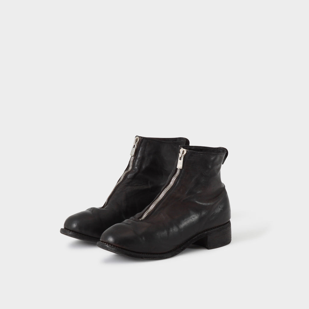 Guidi PL1 Black Frontzip Boots