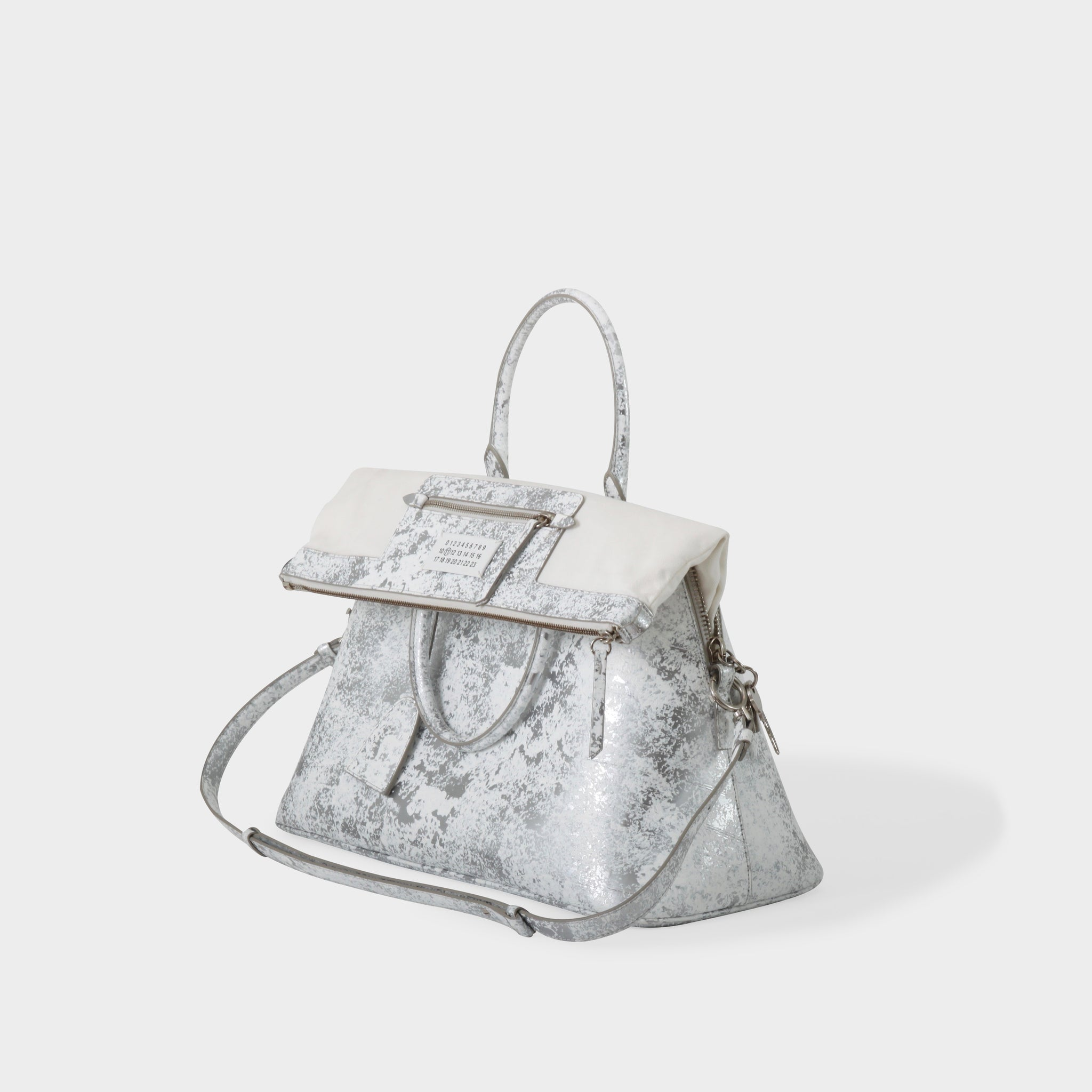 Martin Margiela Metallic Sponge Painted Top Handle Bag