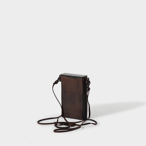 Kai Wet Leather Molded Rectangular Pouch