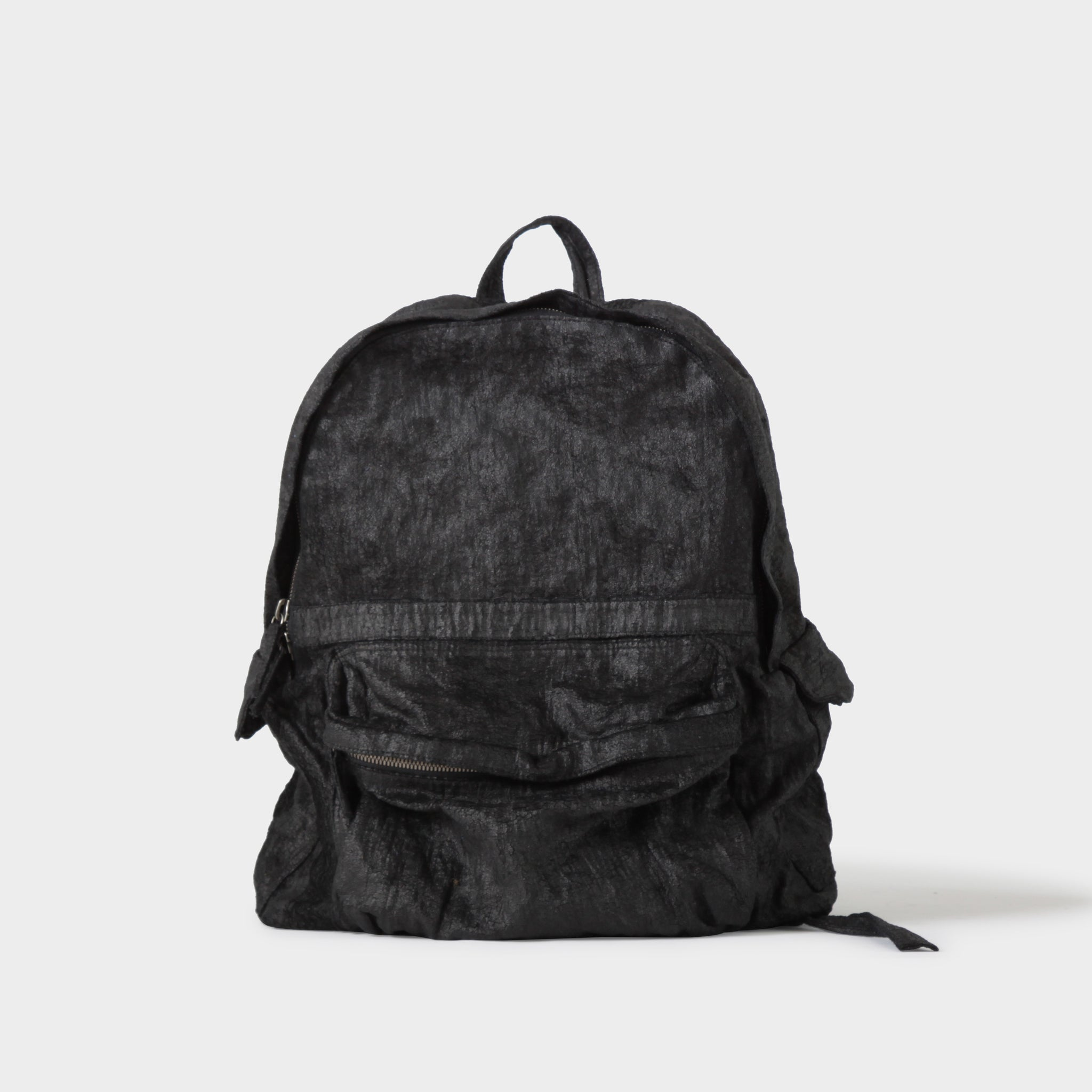 Ann Demeulemeester Blistered Velvet Daypack in Black