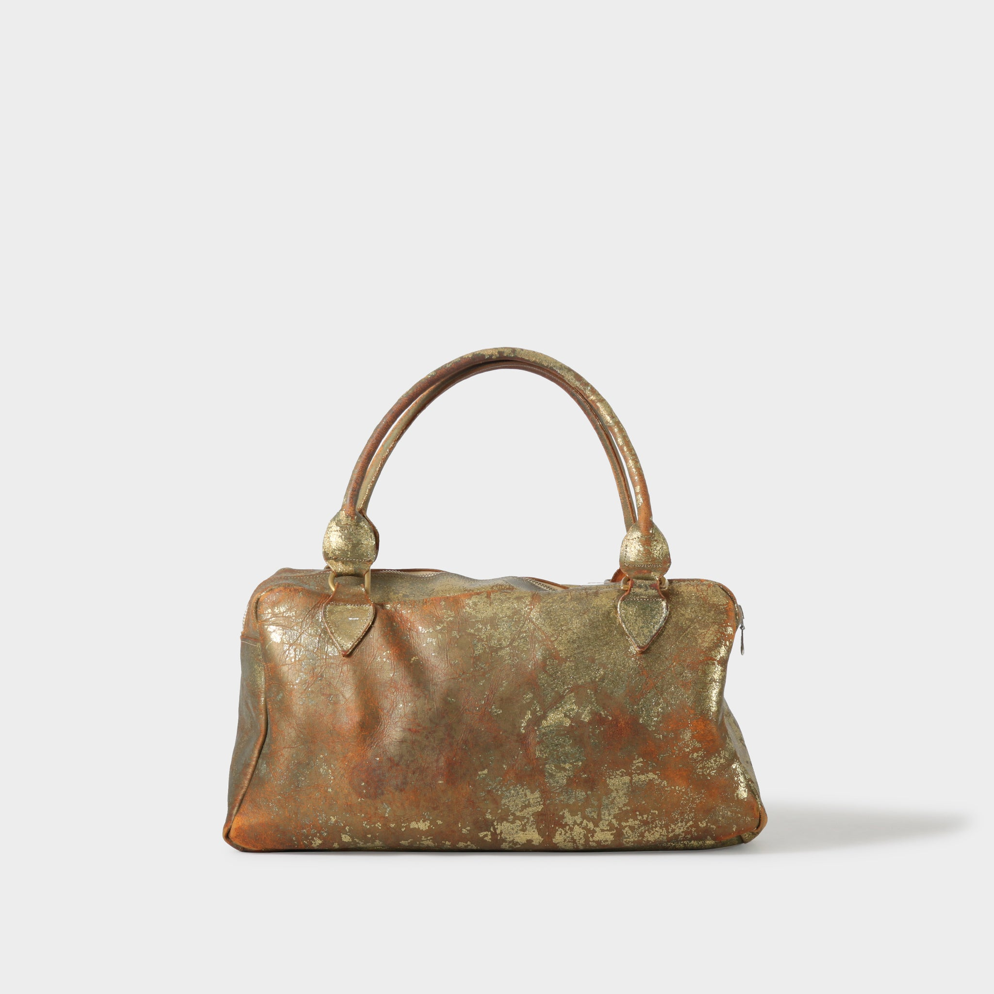 Paul Harnden Distressed Metallic Gold Bag