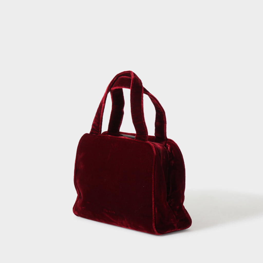 Prada Red Velvet Doctors Bag